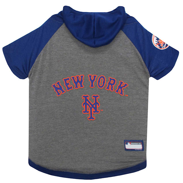 Pets First New York Mets Dog Hoodie Tee, X-Small - Carousel image #1