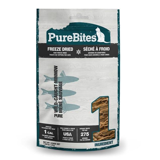 PureBites Freeze Dried Minnow Value Size Cat Treats, 1.09 oz. - Carousel image #1