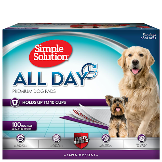 Simple Solution 6-Layer All Day Premium Dog Pads, Count of 100 - Carousel image #1
