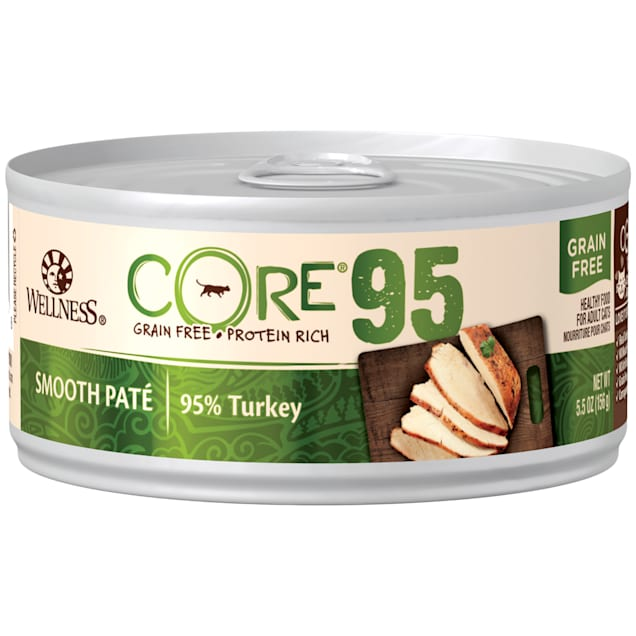 Wellness CORE 95% Natural Grain Free Turkey Wet Canned Cat Food, 5.5 oz., Case of 12 - Carousel image #1