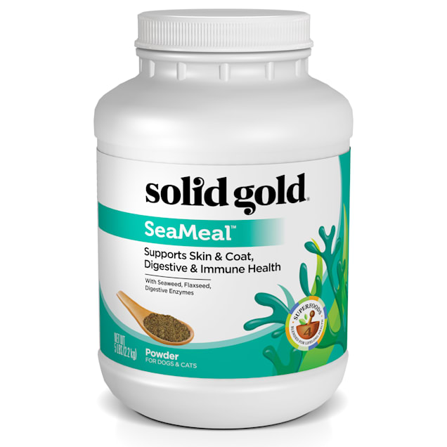 Solid Gold SeaMeal Powder for Skin & Coat, Digestive & Immune Health For Dogs & Cats, 5 lbs. - Carousel image #1