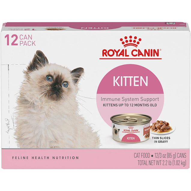 Royal Canin Feline Health Nutrition Thin Slices in Gravy Variety Pack Wet Kitten Food, 3 oz., Count of 12 - Carousel image #1