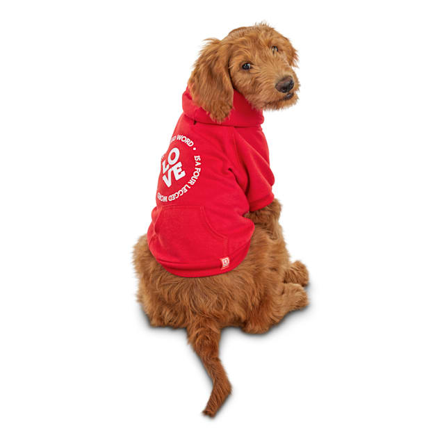 Reddy Love Is A Four-Legged Word Dog Hoodie, X-Large - Carousel image #1