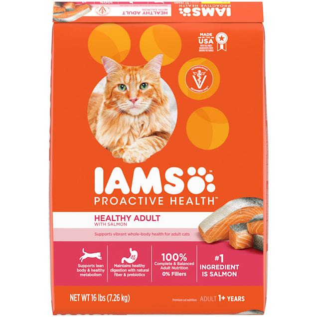 Iams ProActive Health With Salmon Adult Healthy Dry Cat Food, 16 lbs. - Carousel image #1
