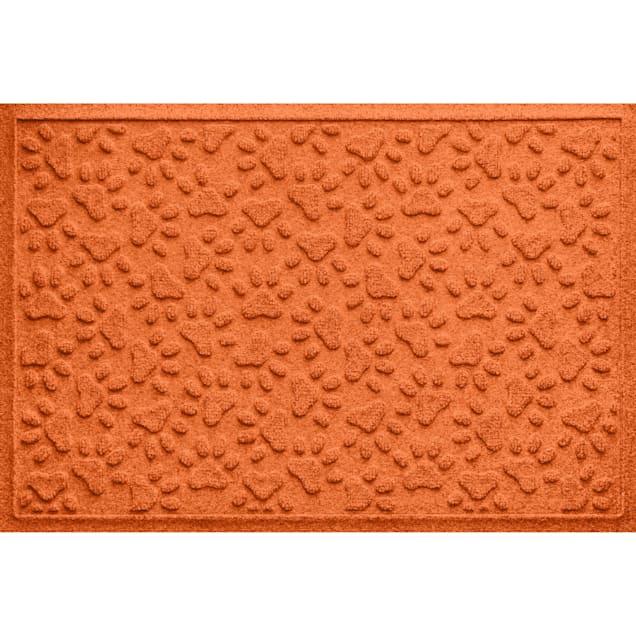 "Bungalow Flooring Scattered Paws Orange Dog Mat, 36"" L x 24"" W - Carousel image #1"