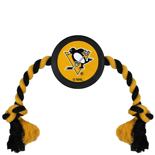 Pets First Pittsburgh Penguins Hockey Puck Toy for Dogs, X-Large - Carousel image #1
