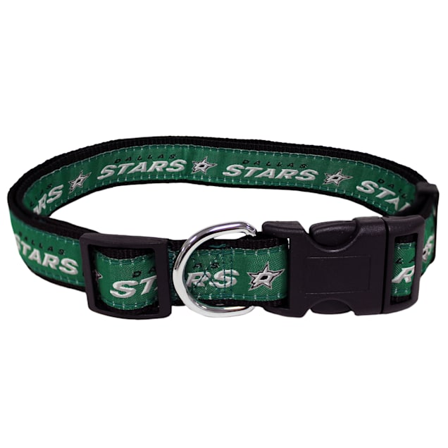 Pets First Dallas Stars Dog Collar, Small - Carousel image #1