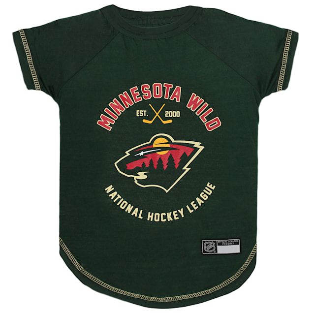 Pets First Minnesota Wild Dog T-Shirt, Large - Carousel image #1