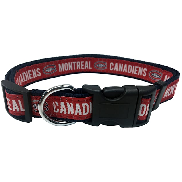 Pets First Montreal Canadiens Dog Collar, Large - Carousel image #1