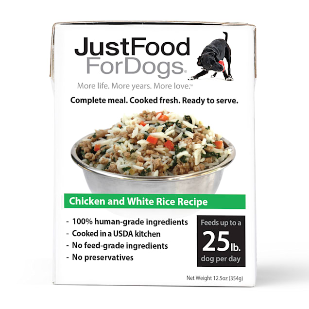JustFoodForDogs Pantry Fresh Chicken and White Rice Dog Food, 12.5 oz., Case of 12 - Carousel image #1