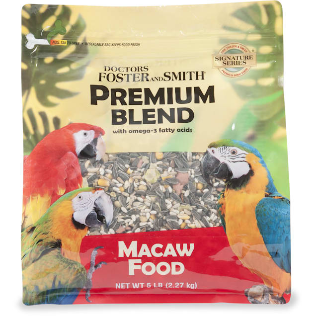 Drs. Foster and Smith Premium Blend Macaw Food with Omega-3 Fatty Acids, 15 lbs. - Carousel image #1