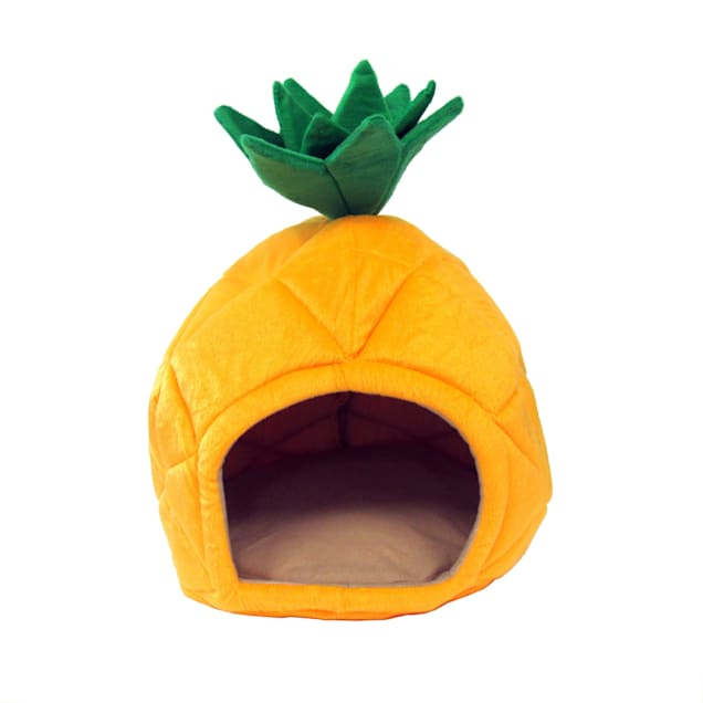 "YML Pineapple Yellow Pet Bed, 18"" D - Carousel image #1"
