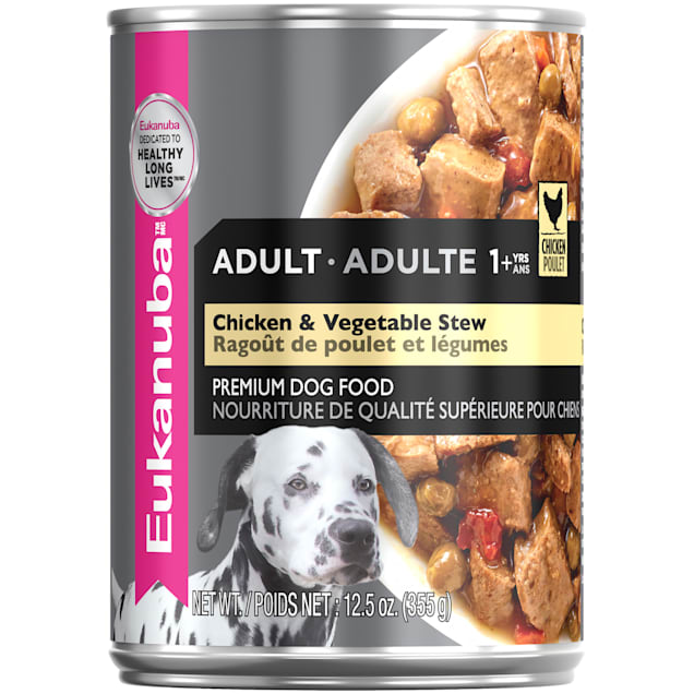 Eukanuba Chicken & Vegetable Stew Adult Wet Dog Food, 12.5 oz. - Carousel image #1