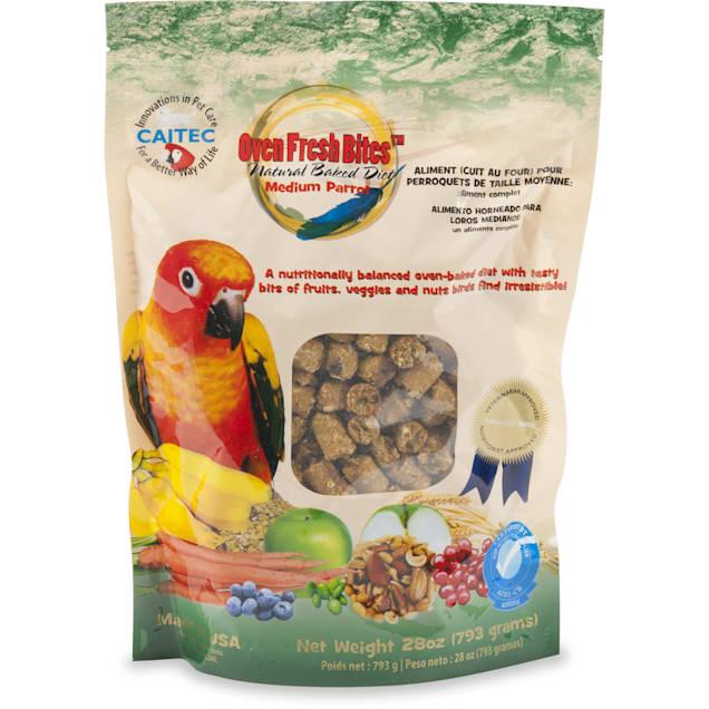 Caitec Oven Fresh Bites Natural Baked Diet for Medium Parrots Bird Food, 28 oz - Carousel image #1