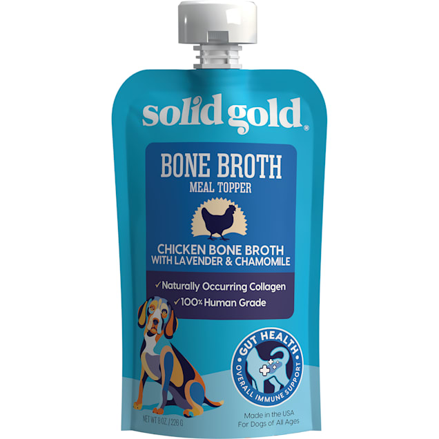 Solid Gold Chicken Bone Broth with Lavender Chamomile and Collagen Wet Dog Food, 8 oz., Case of 12 - Carousel image #1