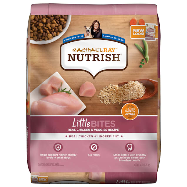 Rachael Ray Nutrish Little Bites Small Breed Natural Real Chicken & Veggies Recipe Dry Dog Food, 14 lbs. - Carousel image #1