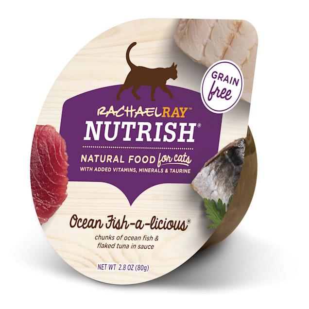 Rachael Ray Nutrish Natural Grain Free Ocean Fish-A-Licious Wet Cat Food, 2.8 oz., Case of 24 - Carousel image #1