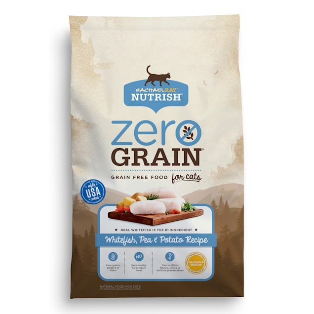 Rachael Ray Nutrish Zero Grain Natural Grain Free Whitefish & Potato Recipe Dry Cat Food, 12 lbs. - Carousel image #1