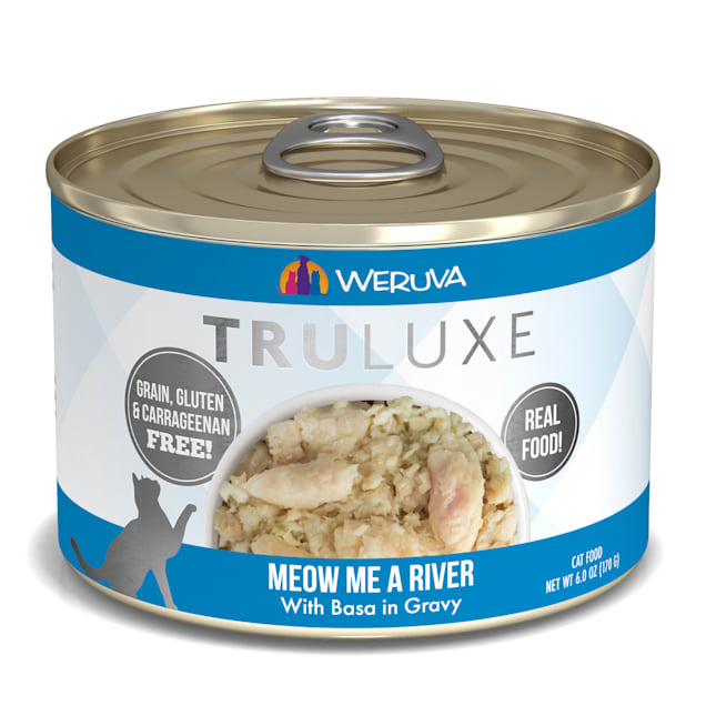 Weruva TruLuxe Meow Me a River with Basa in Gravy Wet Cat Food, 6 oz., Case of 24 - Carousel image #1
