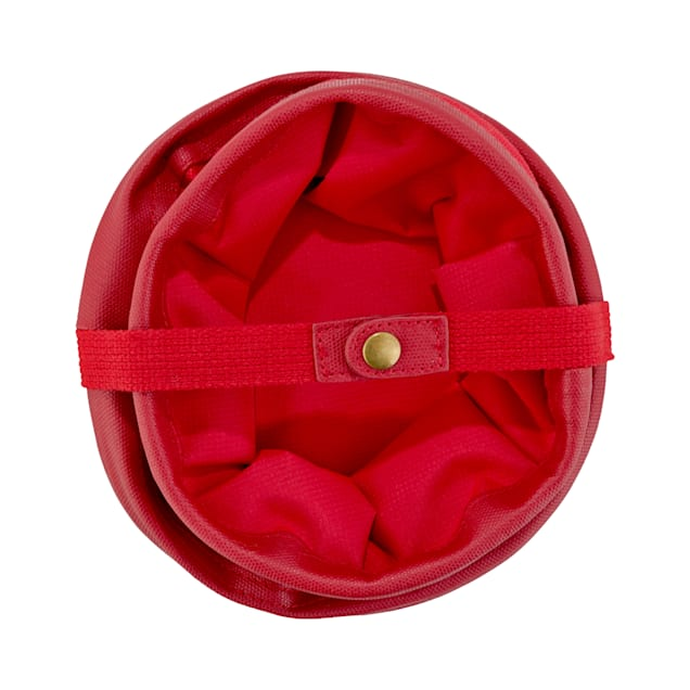 """Reddy Collapsible Red Pet Travel Bowl, 6 Cup, 7"""" D X 4.5"""" H - Carousel image #1"""