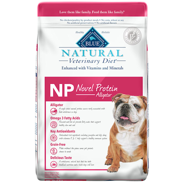Blue Buffalo BLUE Natural Veterinary Diet NP Novel Protein-Alligator Dry Dog Food, 22 lbs. - Carousel image #1