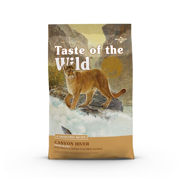 Taste of the Wild Canyon River Grain-Free Trout & Smoked Salmon Dry Cat Food, 14 lbs. - Carousel image #1