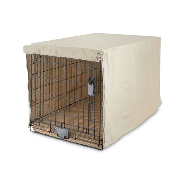 """You & Me Tan Dog Crate Cover, 19"""" L - Carousel image #1"""