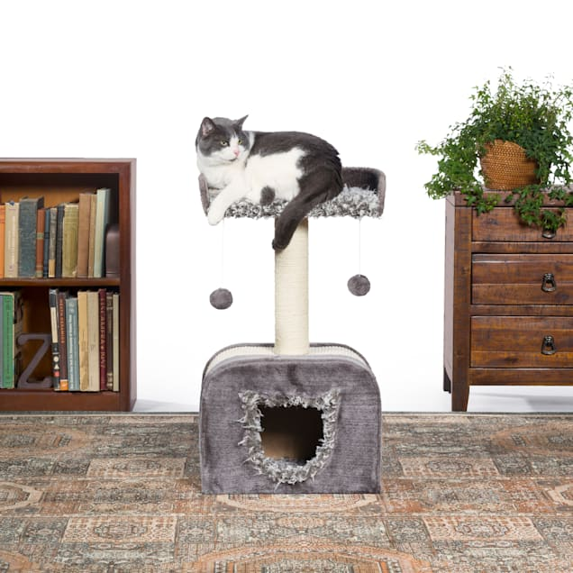 """Prevue Pet Products Kitty Power Paws Shag Hideaway 7304, 14"""" W X 14"""" H - Carousel image #1"""