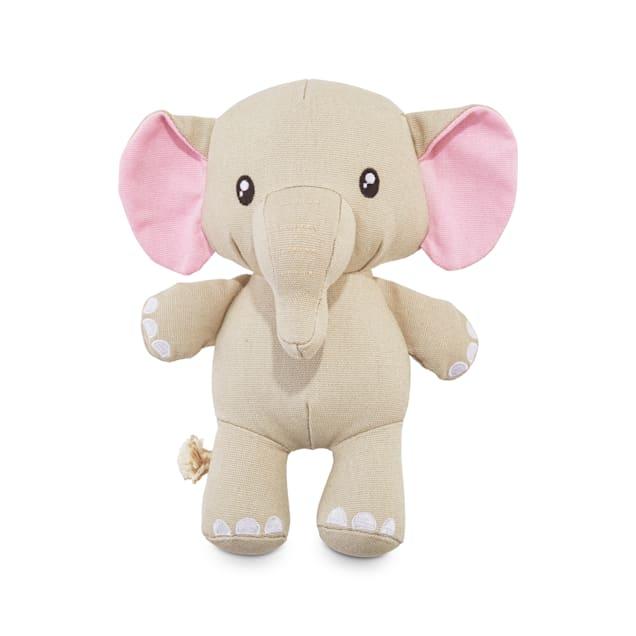 Leaps & Bounds Playful by Nature Play Plush Elephant Dog Toy, Medium - Carousel image #1