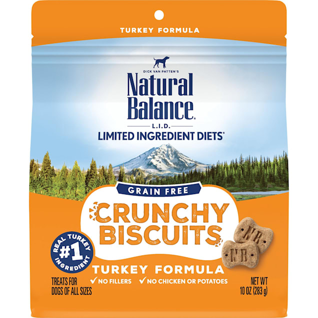 Natural Balance Limited Ingredient Diet Crunchy Biscuits Turkey Dog Treat, 10 oz. - Carousel image #1
