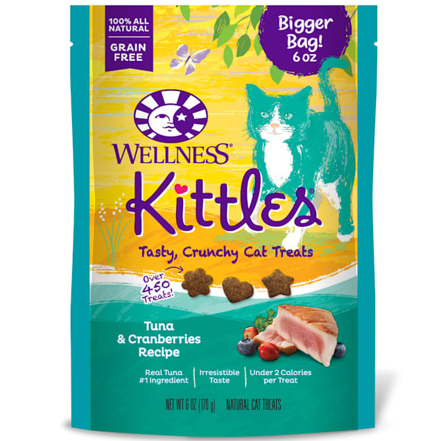 Wellness Kittles Natural Grain Free Tuna & Cranberries Cat Treats, 6 oz., Bag - Carousel image #1