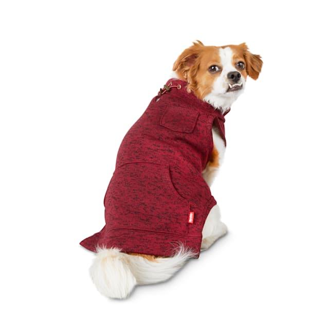 Reddy Burgundy Turtleneck Dog Sweater, X-Small - Carousel image #1