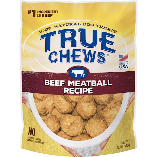 True Chews Beef Meatball Recipe Dog Treats, 12 oz. - Carousel image #1