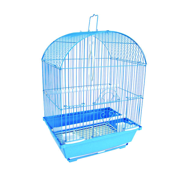 "YML Blue Top Style Parakeet Cage, 11"" L X 9"" W X 16"" H - Carousel image #1"