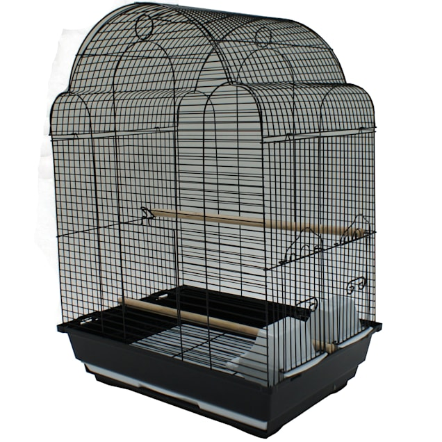 YML Bar Spacing Shell Top Black Bird Cage - Carousel image #1