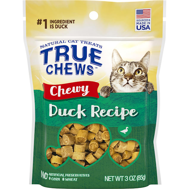 True Chews Chewy Duck Recipe Cat Treat, 3 oz. - Carousel image #1