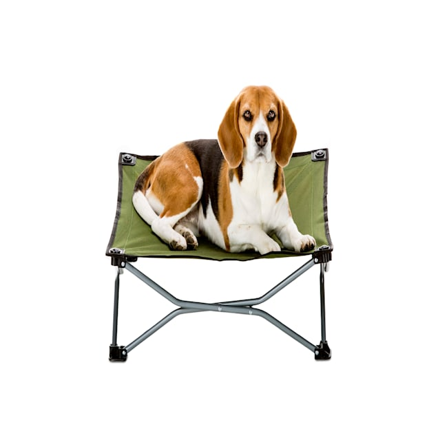 """Carlson Pet Products Green Portable Pup Pet Bed, 26"""" L X 26"""" W X 9"""" H - Carousel image #1"""