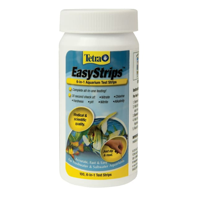 Tetra EasyStrips 6-in-1 Freshwater and Saltwater Aquarium Test Strips, 100 Count - Carousel image #1