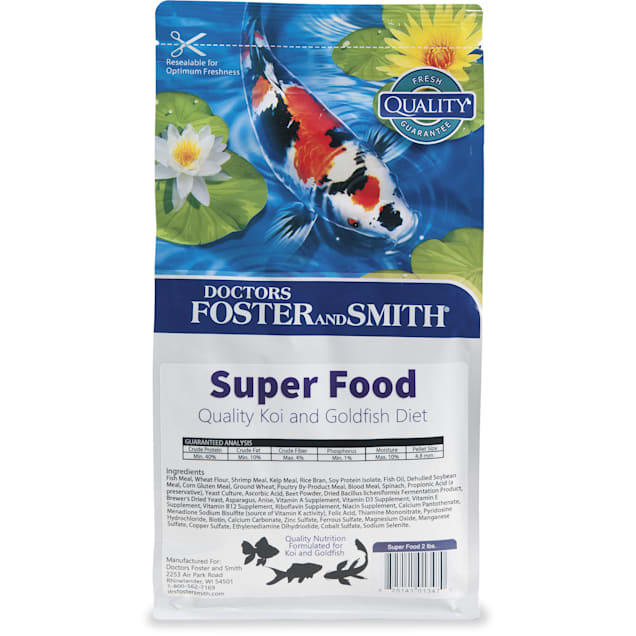 Drs. Foster and Smith Super Food Quality Koi and Goldfish Food, 2 lbs. - Carousel image #1