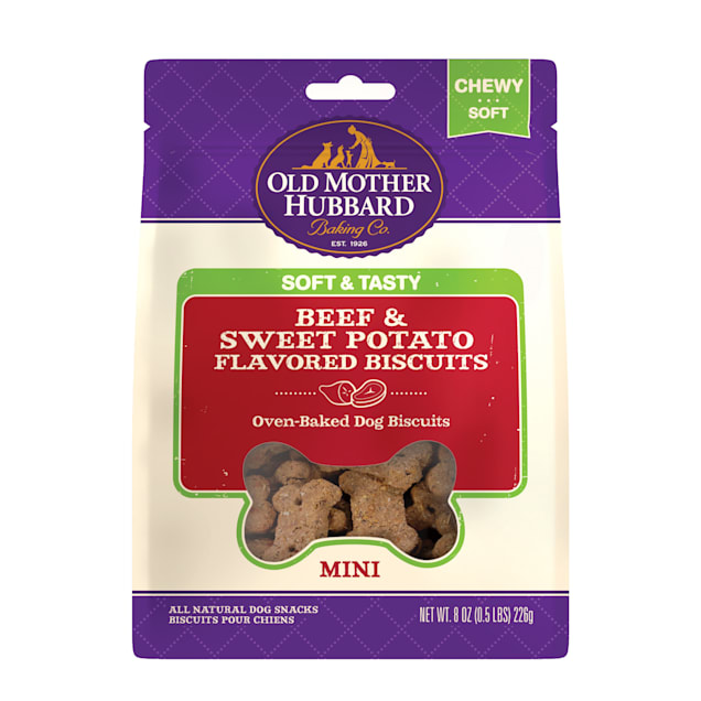 Old Mother Hubbard Soft & Tasty Beef & Sweet Potato Flavored Dog Biscuits, 8 oz. - Carousel image #1