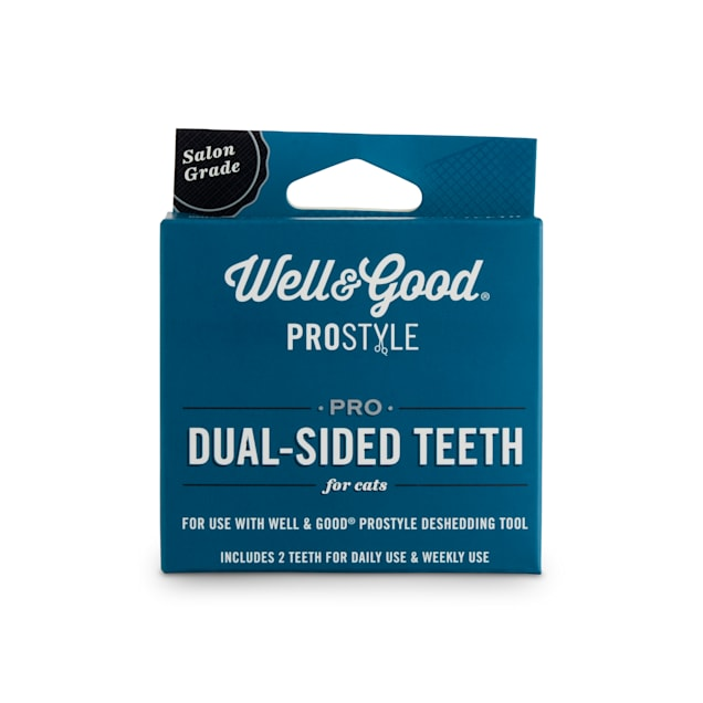 Well & Good ProStyle Dual-Sided Deshedding Replacement Teeth for Cats, Small/Medium - Carousel image #1