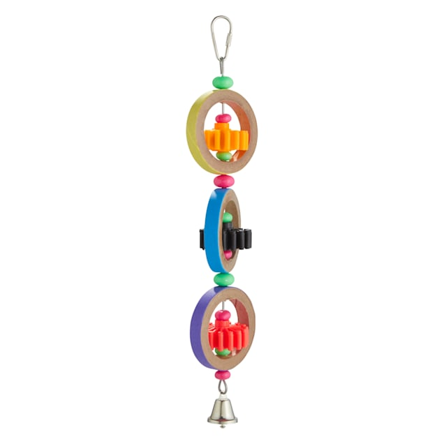 You & Me Geared Up Noisemaking Bird Toy, Medium - Carousel image #1