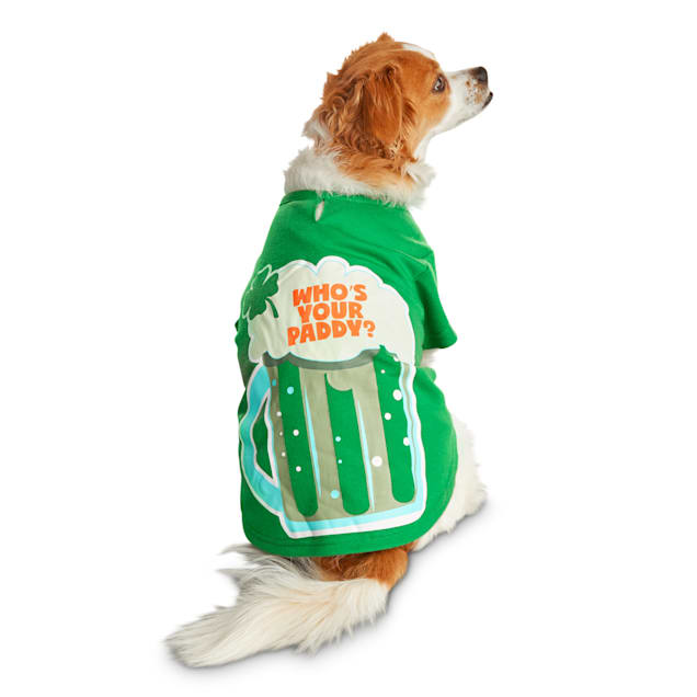 Bond & Co. Saint Patrick's Day Who's Your Daddy Dog T-Shirt, X-Small - Carousel image #1