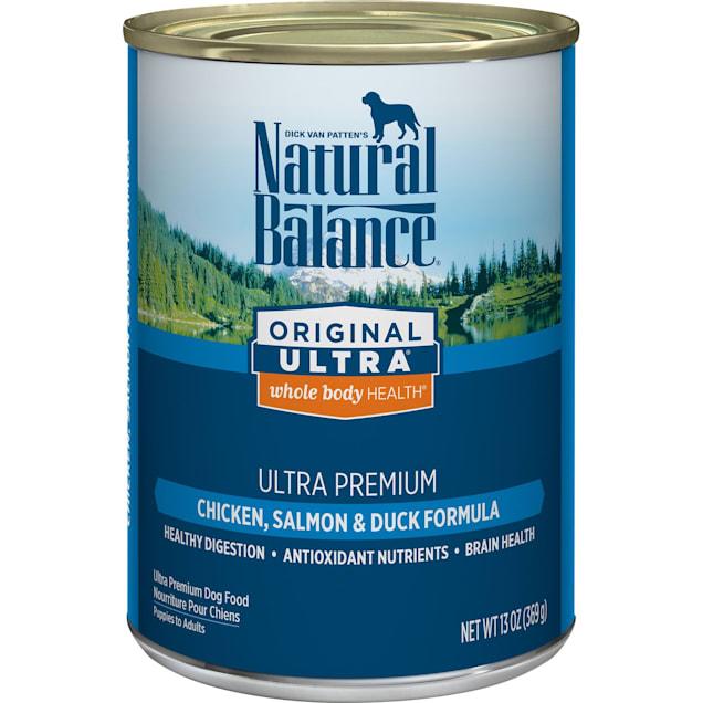 Natural Balance Original Ultra Whole Body Health Chicken, Salmon & Duck Formula Wet Dog Food, 13 oz., Case of 12 - Carousel image #1