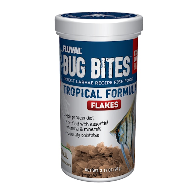 Fluval Bug Bites Tropical Flakes, 3.17 oz. - Carousel image #1