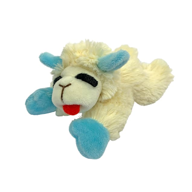 Multipet International Plush Blue Puppy Lamb Chop Toy, Small - Carousel image #1