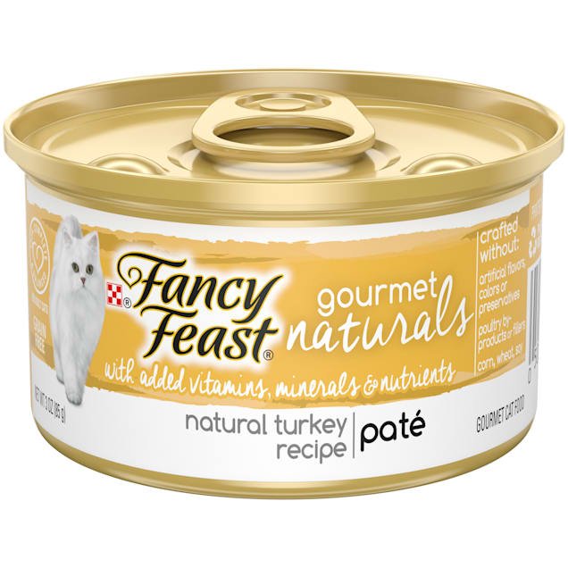 Purina Fancy Feast Gourmet Naturals Turkey Recipe Pate Wet Cat Food, 3 oz., Case of 12 - Carousel image #1