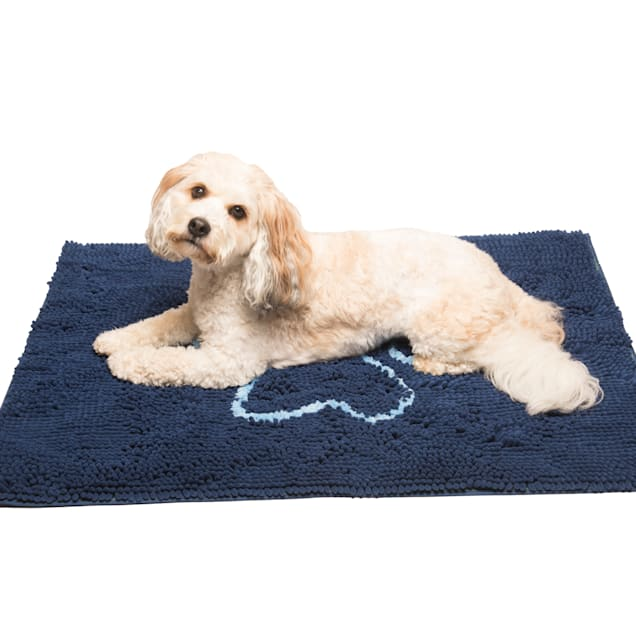 "Dog Gone Smart Dirty Dog Bermuda Blue Doormat for Dogs, 31"" L X 20"" W - Carousel image #1"