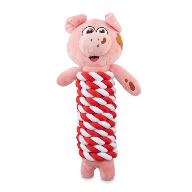 Bond & Co. County Fair Classics Get Piggy With It Pig Rope-Wrapped Plush Dog Toy, Large - Carousel image #1