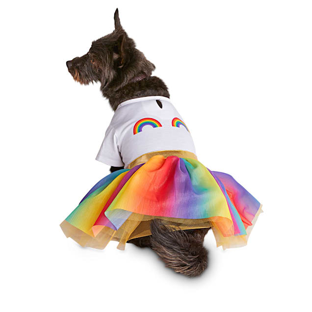Bond & Co. Pride Rainbow Princess Dog Dress, X-Small - Carousel image #1